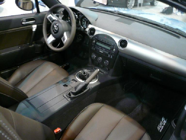 The interior of the 2009 Miata is a features good fit and finish and is much more elegant than the first two generations'.