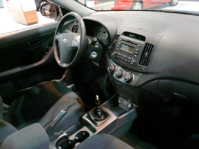 The stylish interior of the Hyundai Elantra.