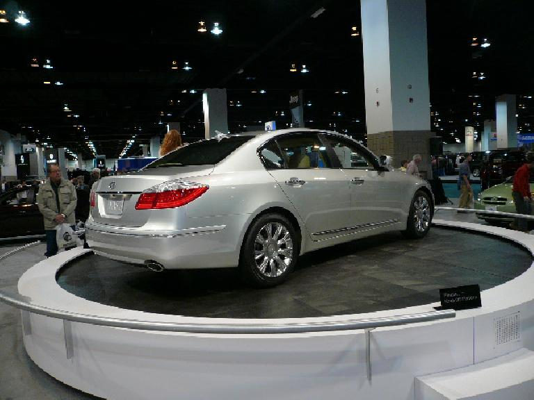 The Hyundai Genesis pre-production luxury car was also popular.  Looks a lot like the BMW 7-series (including Bangle Butt) but is supposed to be around the price of a 3-series.