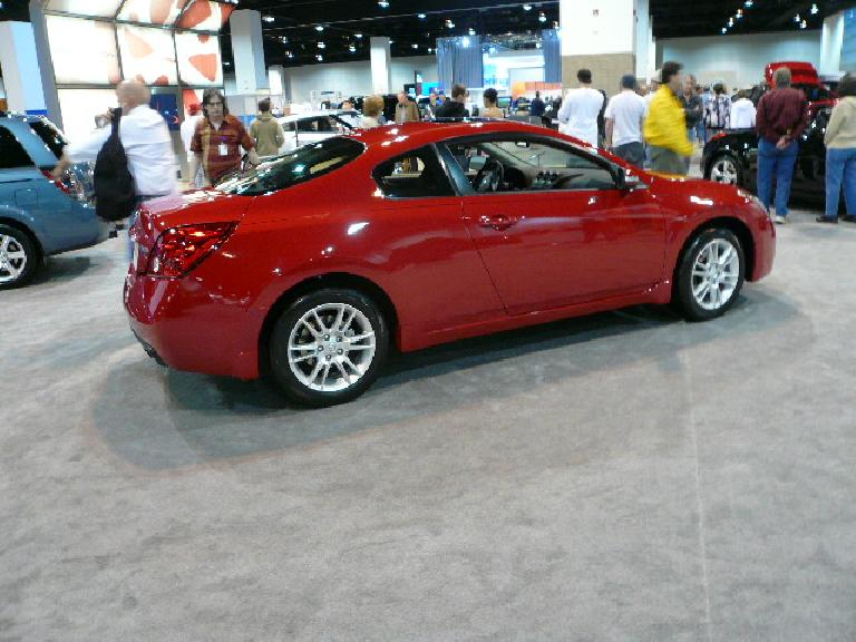 The Nissan Altima coupe was very impressive... sporty, stylish and upscale.