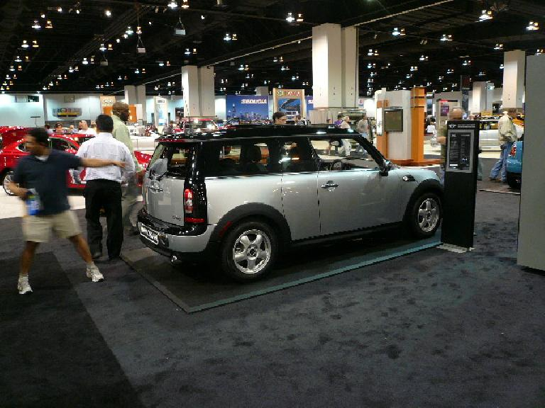 "The new MINI Clubman.  Note the Saturn SC-like ""suicide"" door (but on the right side instead of the left side like the Saturn)."