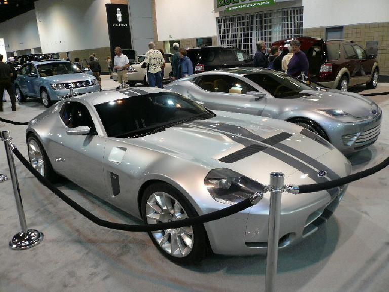 Pair of sporty Ford concept cars: the Shelby GR-1 and Reflex.
