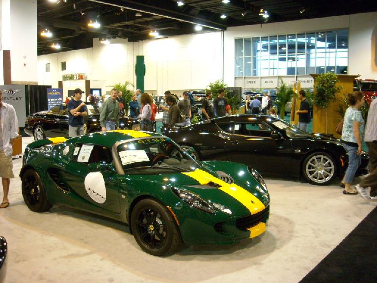 A Lotus Elise and Lotus Evora.