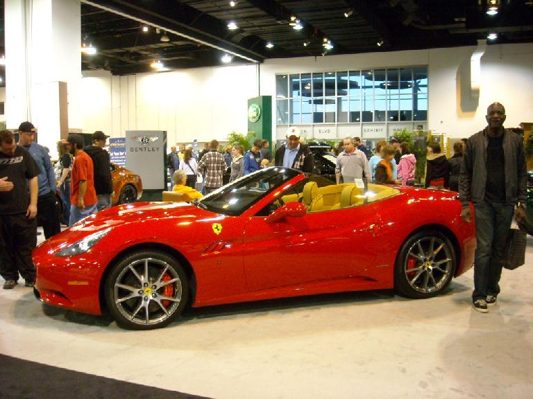 A Ferrari California convertible.