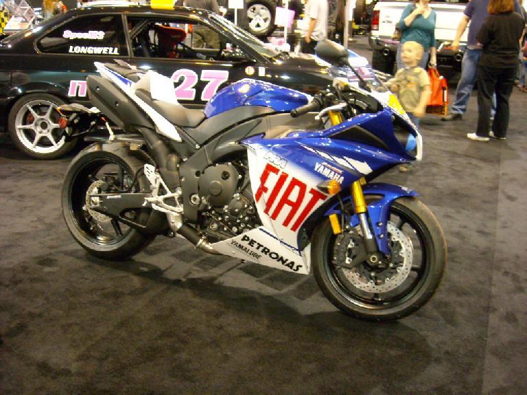 A Yamaha race bike -- probably an R1.
