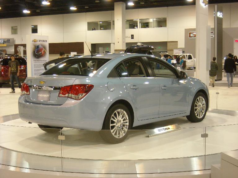 Chevy Cruze.  Elegant on the outside and beautiful in the interior.