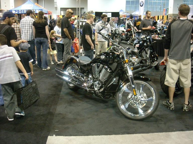 A Victory motorcycle.