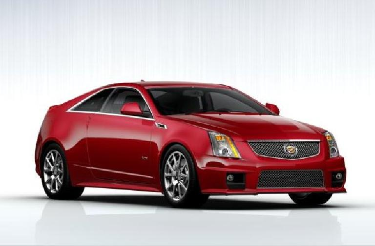 A Cadillac CTS-V coupe with 556 horsepower like the one we test drove at the Denver International Auto Show.