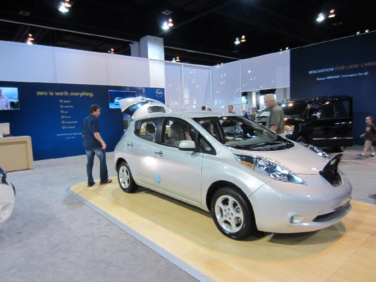 She didn't care for the looks of the Nissan Leaf, however.