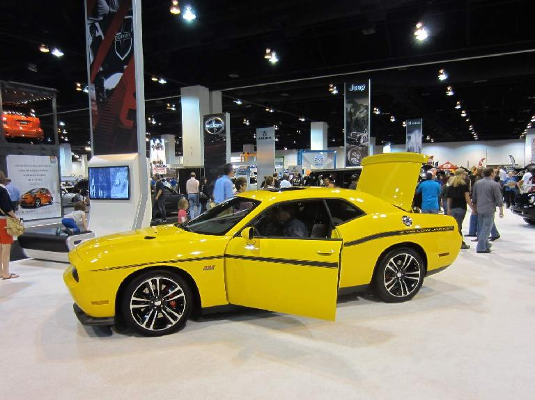 A Dodge Challenger Yellow Jacket.