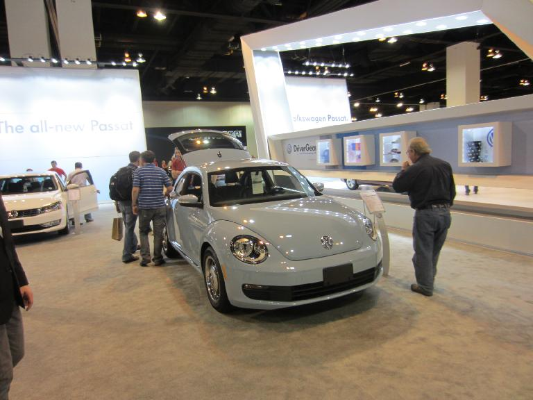 The 2012 Volkswagen Beetle looks a lot more masculine than the New Beetle it replaces.  I like it.