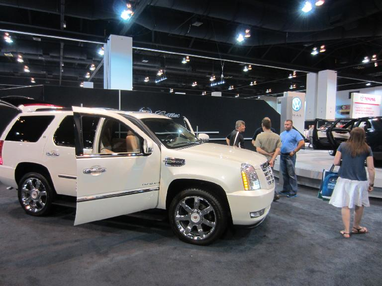 Kelly really likes the Cadillac Escalade.  At least this one was a hybrid that is rated a not-atrocious 23 MPG.