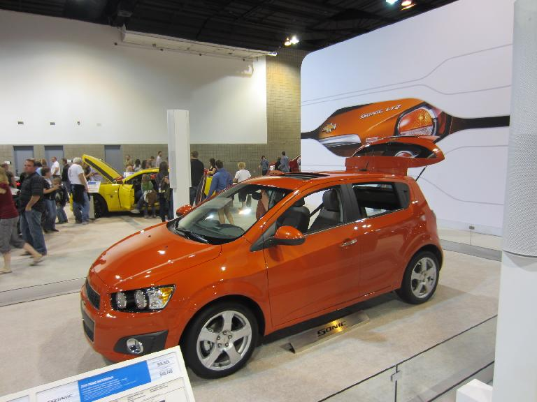 The Chevy Sonic can get 40 MPG on the highway.