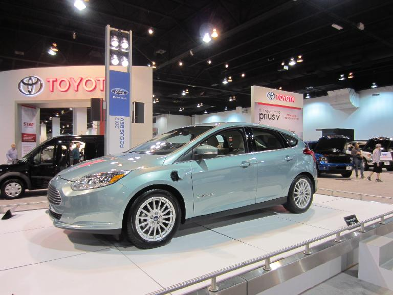 The Ford Focus BEV concept car.  The actual electric car that will be hitting the market later this year is rated 105 MPG-equivalent by the EPA.