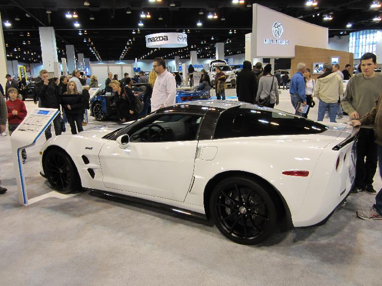 I was disappointed that Chevy did not bring out the 2014 C7 Corvette Stingray for this show. But at least they brought out a C6 ZR-1 ($117K, or double that of the base C7 Stingray).