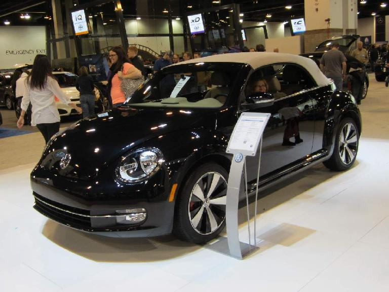 Beetle convertible.  Quite a bit more masculine than the (previous generation) New Beetle.