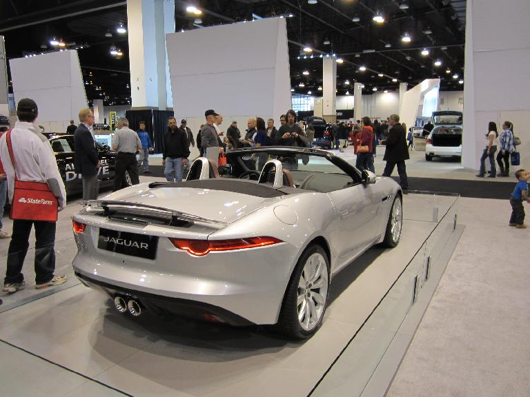My favorite car of this year's show: the gorgeous Jaguar F-Type, evocative of the 1960s' E-Type.
