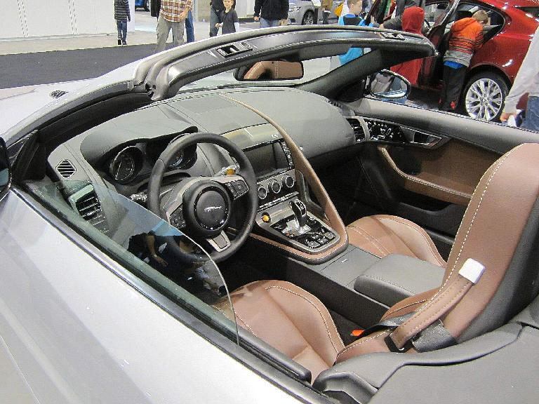 The cockpit of the F-Type.