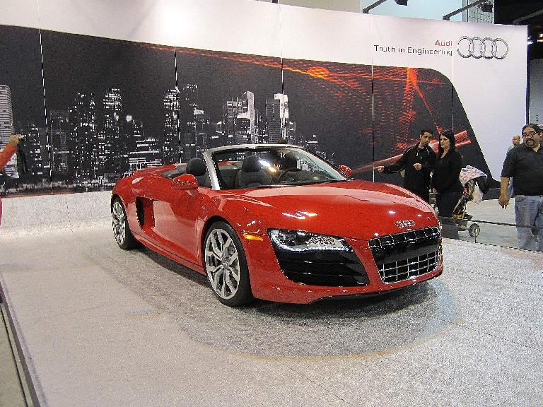 Audi R8 Spyder with a V10 engine.