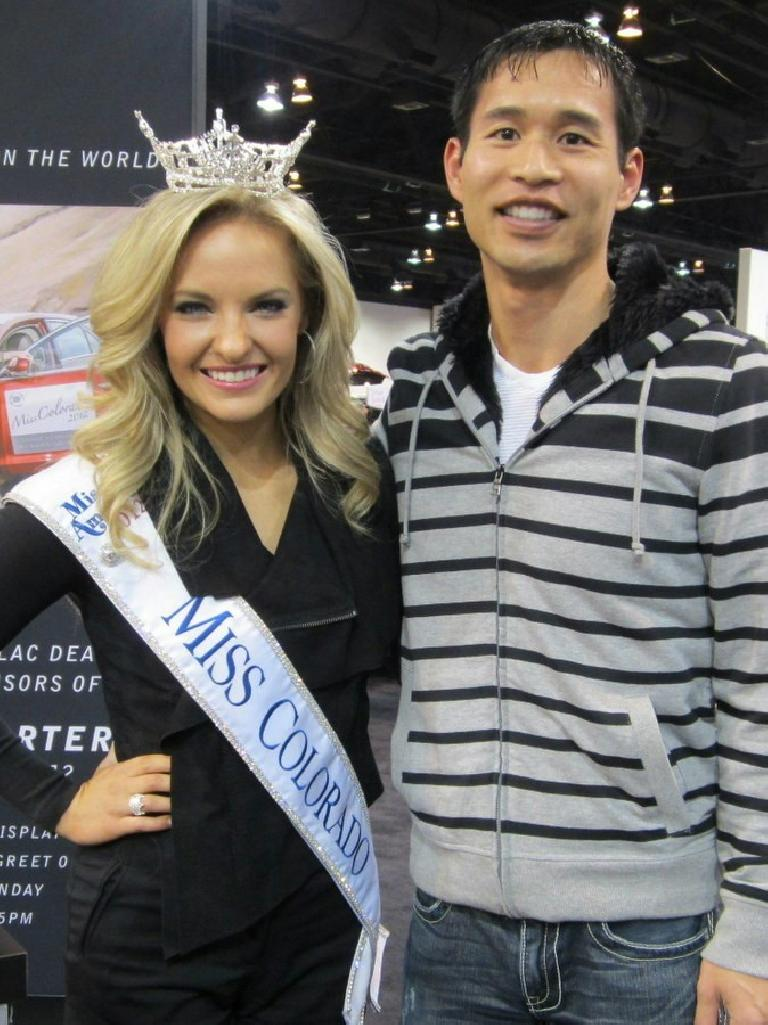 This is 2013 Miss Colorado Hannah Porter and me.