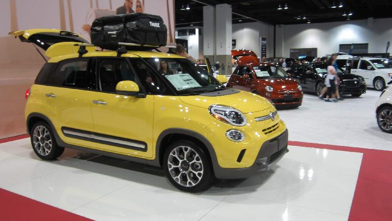 Fiat 500L. Definitely looks funky compared to the 2-door 500.