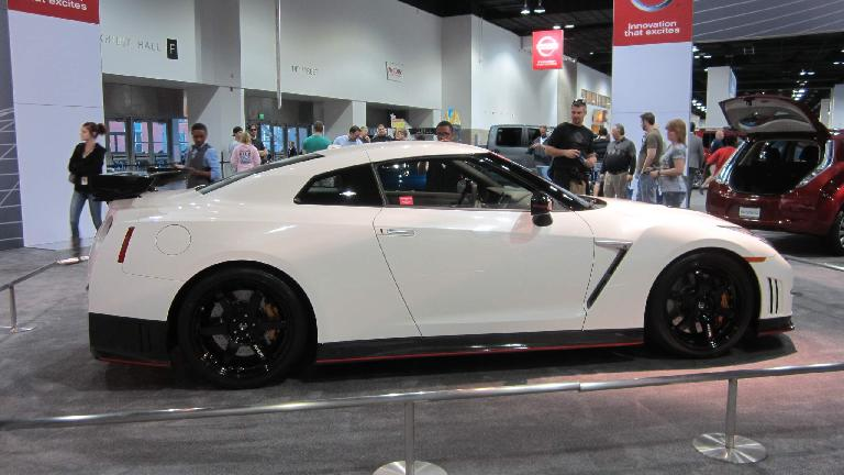 The venerable Nissan GT-R. I never really cared for its styling (especially for a $100k car) but applaud Nissan for making it.