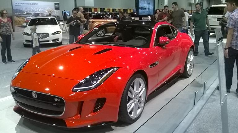 The 2015 Jaguar F-Type coupe. One of the most handsome cars of the show.