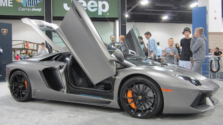Lamborghini Aventador. I still don't really like the matte car finishes.