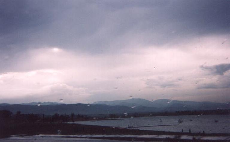 """[Boulder] This is """"the Res"""" (or Boulder Reservoir), where Adrienne and Micah's wedding celebrations were held.  The Res was the cool place to hang out while Shane was living in Denver 10 years ago. (May 31, 2003)"""