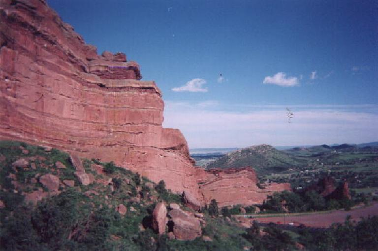 [Golden] After the epic Mt. Evan's Ascent (click here for photos), I spent the afternoon at Red Rocks Park (which turned out to be more of an amphitheatre) to do some hiking, stretching, and meditation.  No climbing was allowed, unfortunately! (June 1, 2003)