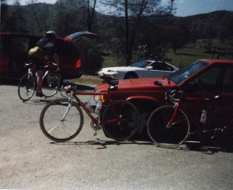 red Cannondale 3.0, rest stop, 1999 Devil Mountain Double Century