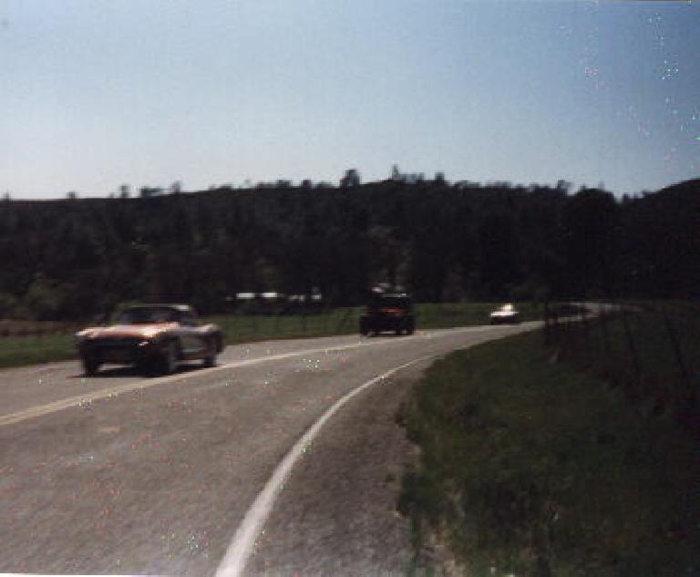 classic cars, back side of Mt. Hamilton, 1999 Devil Mountain Double Century