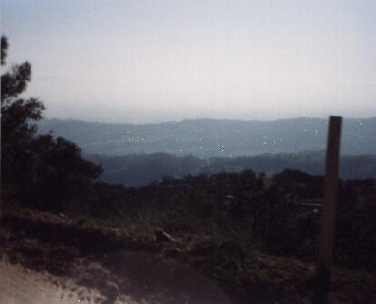 view from top of Mt. Hamilton