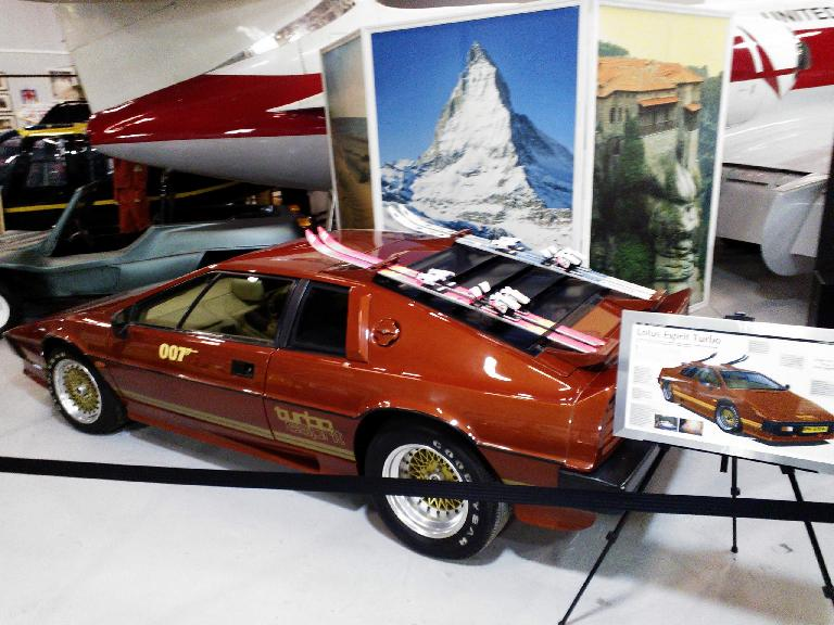 A Lotus Esprit with ski racks in one of the Bond movies, to make it seem more outdoorsy.