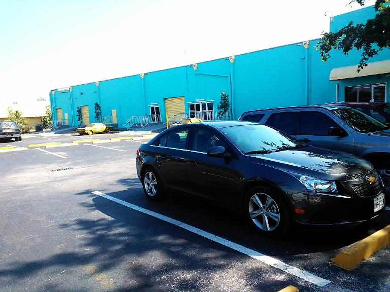 My Chevy Cruze rental car was a great car (even surprisingly luxurious) for getting around Florida.
