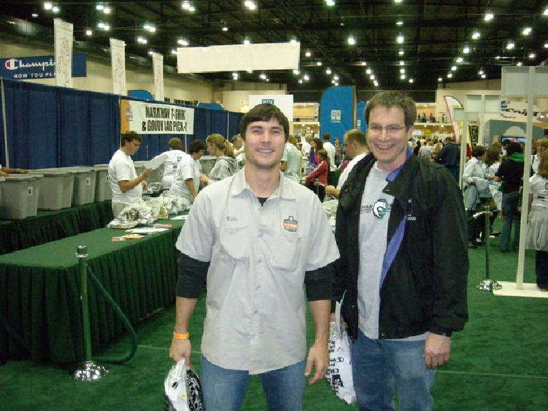 Craig and Erik at the expo the night before the Disney World Half Marathon.