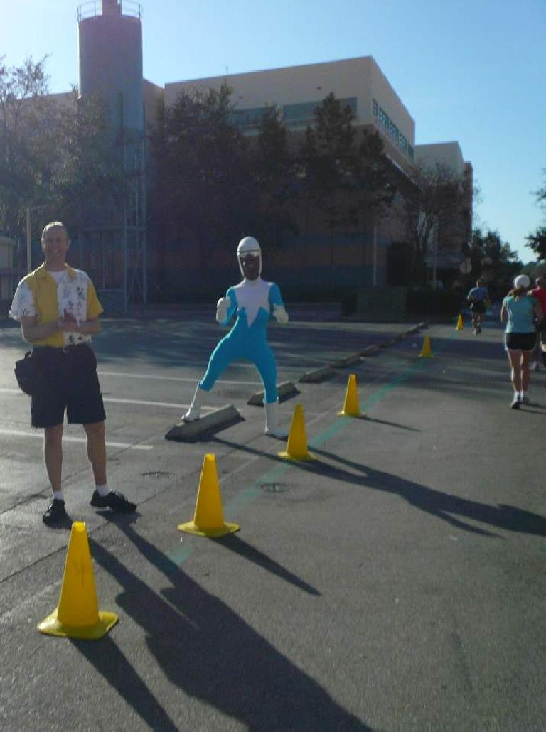 [Mile 23, 9:23 a.m.] Frozone from The Incredibles.