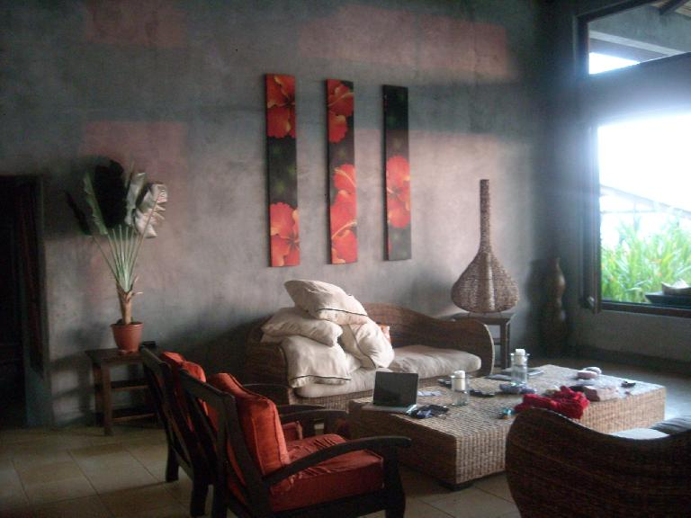 Nice interior design as exemplified by the living room of the villa.