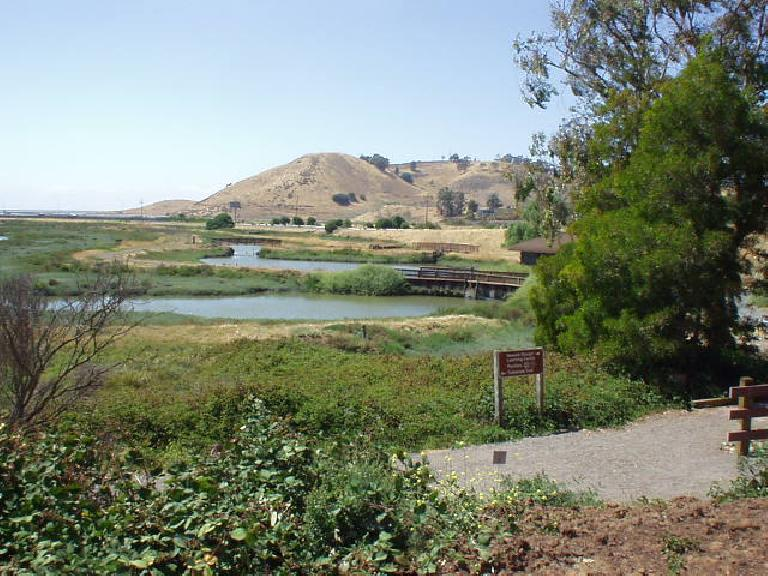Hills on the otherside of Highway 84 are easily accessible via a pedestrian bridge.