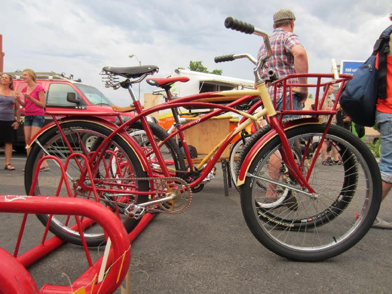 Red and yellow cruiser.