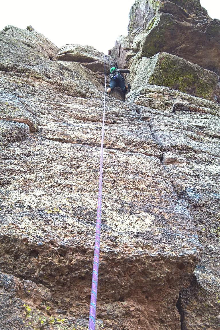Diana on Corner Climb (5.7) at Duncan's Ridge.