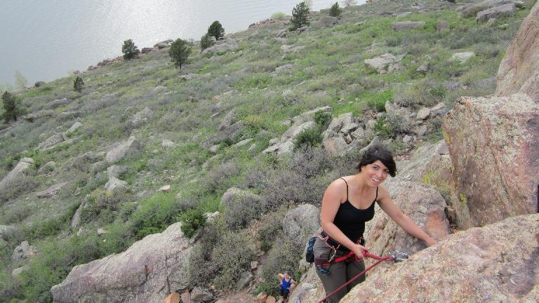 When we got to Duncan's Ridge, Lauren had just ascended a climb already.