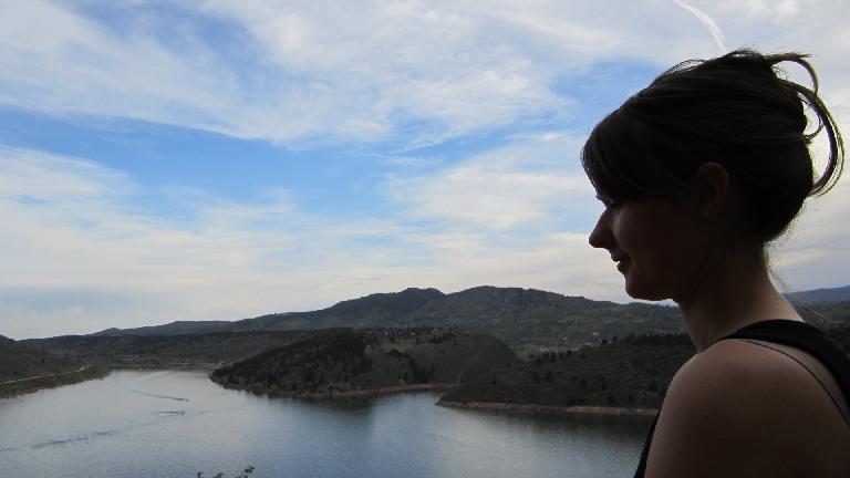Overlooking the Horsetooth Reservoir.