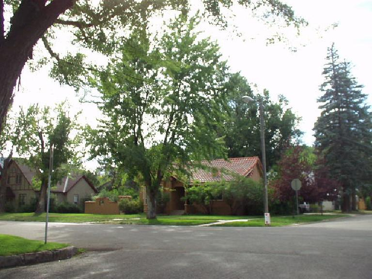 Homes in a nice treed neighborhood to the west of downtown.