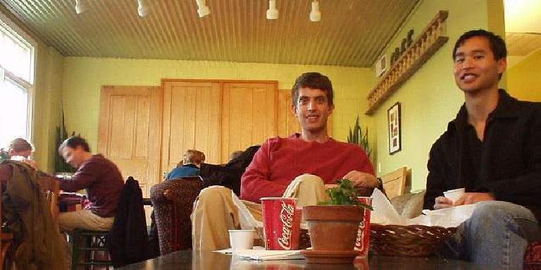 Daniel Lieb, Felix Wong, in a caf? in Durham, North Carolina