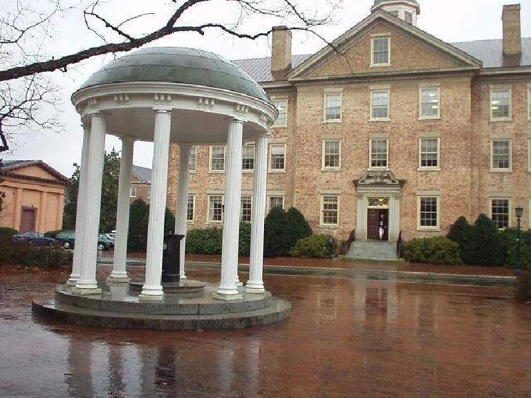 Round gazebo on Duke University campus