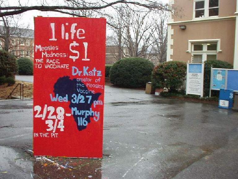 1 life $1 Dr. Katz sign, Duke University