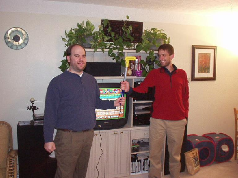 Sam and Dan, the last and first place finishers in this rather odd game! (December 31, 2005)