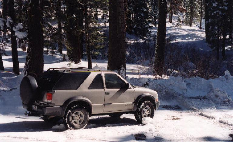 The Blazer got to use its 4-wheel-drive today!