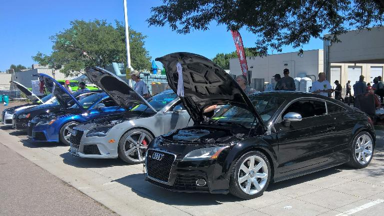 A black 2009 Audi TTS coupe.